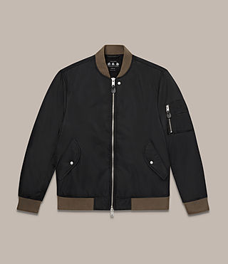 Men's Ventura Bomber Jacket (Black) - Image 2