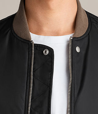 Men's Ventura Bomber Jacket (Black) - Image 4