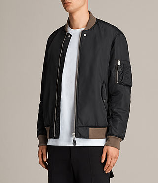 Men's Ventura Bomber Jacket (Black) - Image 5