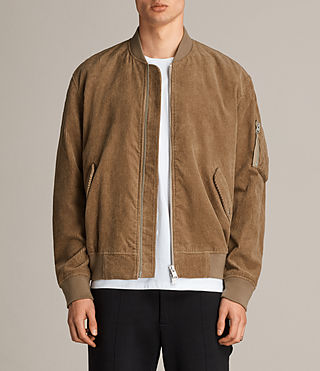 Mens Valley Bomber Jacket (Camel) - product_image_alt_text_1