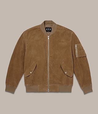 Mens Valley Bomber Jacket (Camel) - product_image_alt_text_2