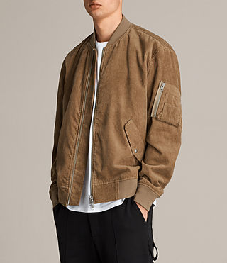Mens Valley Bomber Jacket (Camel) - product_image_alt_text_6