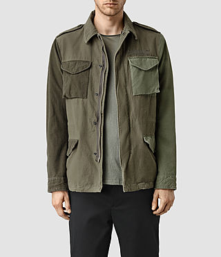 Hombre Addison Jacket (Khaki Green) - product_image_alt_text_1