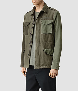 Hombre Addison Jacket (Khaki Green) - product_image_alt_text_2