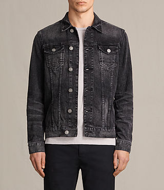 Hombres Cazadora de denim Tocander (Washed Black) -
