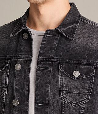 Hombres Cazadora de denim Tocander (Washed Black) - product_image_alt_text_2