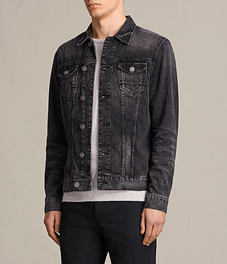 Hombres Cazadora de denim Tocander (Washed Black) - product_image_alt_text_3