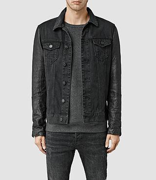 Mens Thomson Denim Jacket (Black)