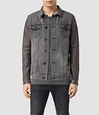 Mens Keston Denim Jacket (Grey)