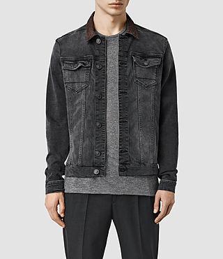 Men's Bering Denim Jacket (Washed Black)