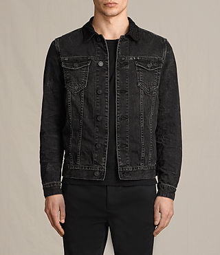 Mens Donlington Denim Jacket (Black) - product_image_alt_text_1