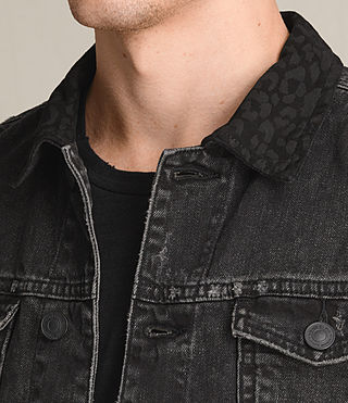 Mens Donlington Denim Jacket (Black) - product_image_alt_text_2