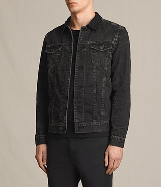 Uomo Donlington Denim Jacket (Black) - product_image_alt_text_3