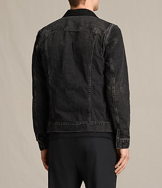 Mens Donlington Denim Jacket (Black) - product_image_alt_text_4