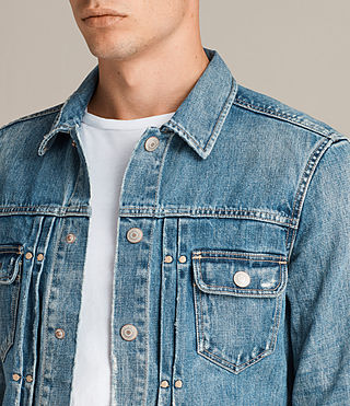 Mens Ina Denim Jacket (Indigo Blue) - Image 2
