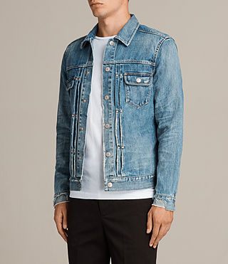 Mens Ina Denim Jacket (Indigo Blue) - Image 3