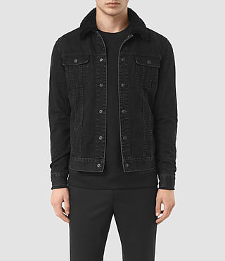 Hommes Stram Denim Jacket (Black)