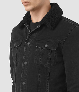 Uomo Giacca jeans Stram (Black) - product_image_alt_text_2