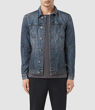 Uomo Hockett Denim Jacket (Indigo Blue)