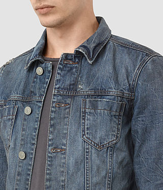 Mens Hockett Denim Jacket (Indigo Blue) - product_image_alt_text_2