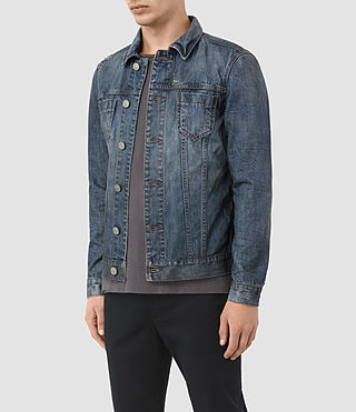 Mens Hockett Denim Jacket (Indigo Blue) - product_image_alt_text_3