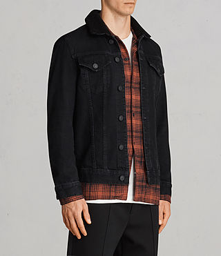 Men's Bikana Denim Jacket (Black) - Image 3