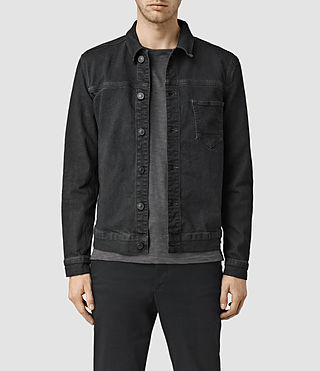Hombres Wallach Denim Jacket (Black)