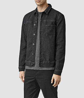 Hombres Wallach Denim Jacket (Black) - product_image_alt_text_2