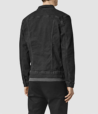 Hombres Wallach Denim Jacket (Black) - product_image_alt_text_3