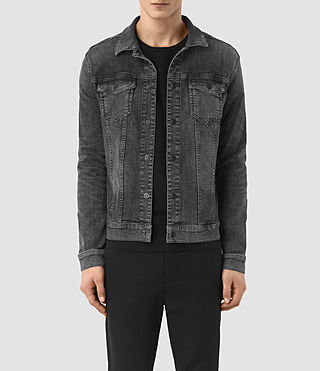 Hombres Temple Denim Jacket (Black)