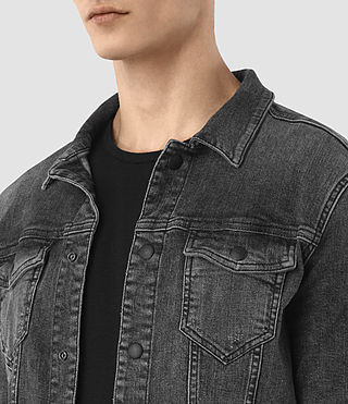 Mens Temple Denim Jacket (Black) - product_image_alt_text_2