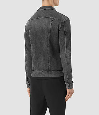 Mens Temple Denim Jacket (Black) - product_image_alt_text_4