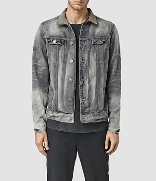 Men's Trooper Denim Jacket (Grey)