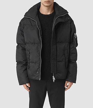 Hommes Wyatt Puffa Jacket (Black)
