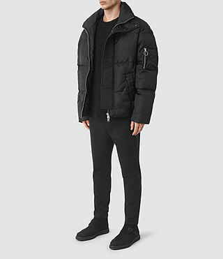 Hombres Wyatt Puffer Jacket (Black) - product_image_alt_text_3