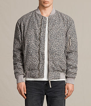 Mens Raptor Reversible Bomber Jacket (DUSTY KHAKI GREEN) - product_image_alt_text_1