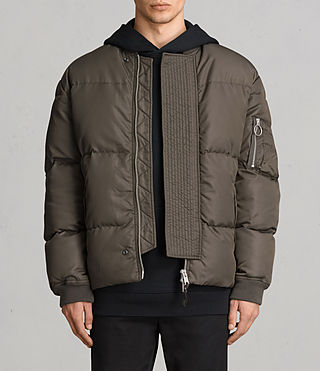 Hombre Caisey Puffa Jacket (Khaki Brown) - product_image_alt_text_1