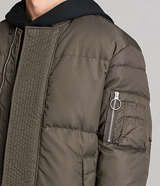 Mens Caisey Puffer Jacket (Khaki Brown) - product_image_alt_text_2