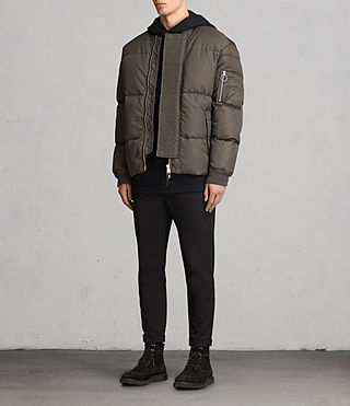 Hombre Caisey Puffa Jacket (Khaki Brown) - product_image_alt_text_3
