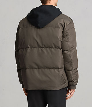 Hombre Caisey Puffa Jacket (Khaki Brown) - product_image_alt_text_4