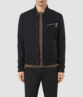 Hommes Wilkins Bomber Jacket (INK NAVY)