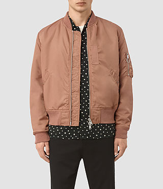 Mens Marlo Bomber Jacket (SMOKE ORANGE)