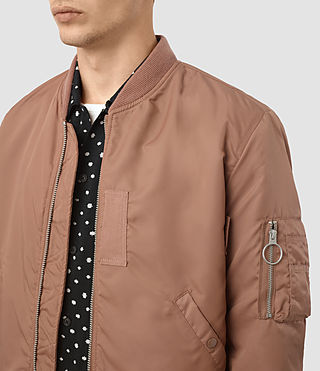 Hombres Marlo Bomber Jacket (SMOKE ORANGE) - product_image_alt_text_2