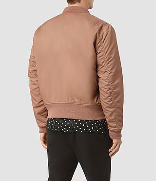 Hombres Marlo Bomber Jacket (SMOKE ORANGE) - product_image_alt_text_4