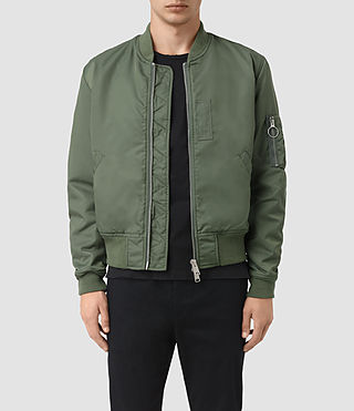 Mens Marlo Bomber Jacket (SMOKE GREEN)