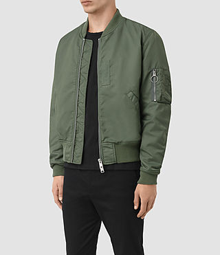Mens Marlo Bomber Jacket (SMOKE GREEN) - product_image_alt_text_3