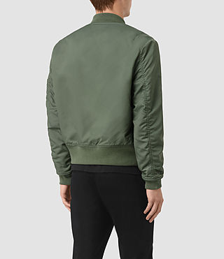 Mens Marlo Bomber Jacket (SMOKE GREEN) - product_image_alt_text_4