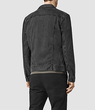 Mens Stretent Denim Jacket (Black) - product_image_alt_text_3