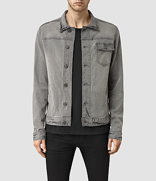 Mens Slab Denim Jacket (Grey) - product_image_alt_text_1