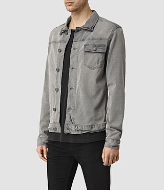 Mens Slab Denim Jacket (Grey) - product_image_alt_text_2